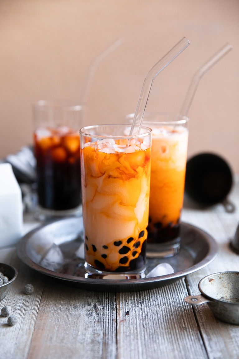Boba Tea Recipe How To Make Thai Bubble Tea The Forked Spoon