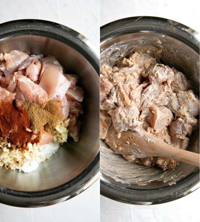 Chicken marinating collag