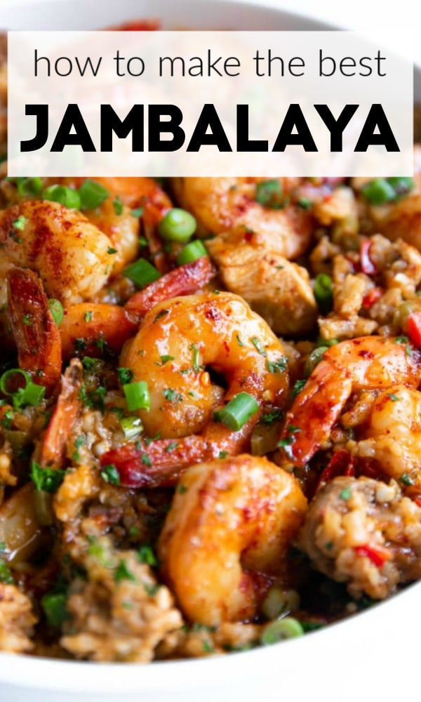 Jambalaya pinterest pin collage