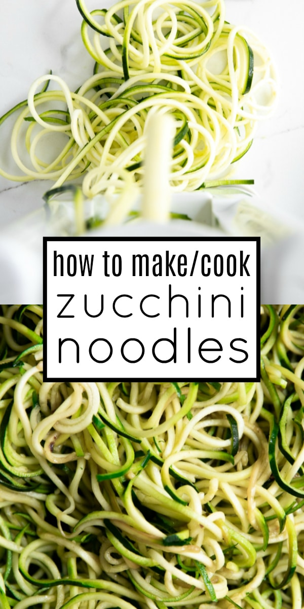 Zoodles Recipe (How to Cook Zucchini Noodles) #lowcarb #zucchininoodles #zoodles #glutenfree #zoodlerecipe #vegetarian | For this recipe and more visit, https://theforkedspoon.com/how-to-cook-zucchini-noodles