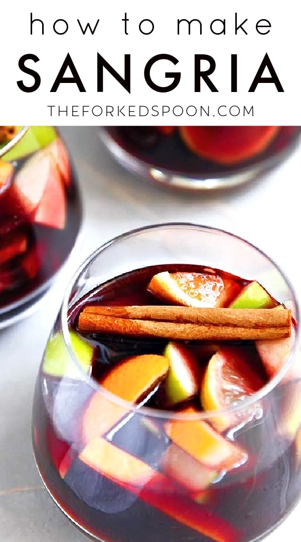 Easy Sangria Recipe - How to Make Red Sangria Pinterest Pin Image