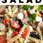 Italian Pasta Salad Recipe Pinterest Pin Image