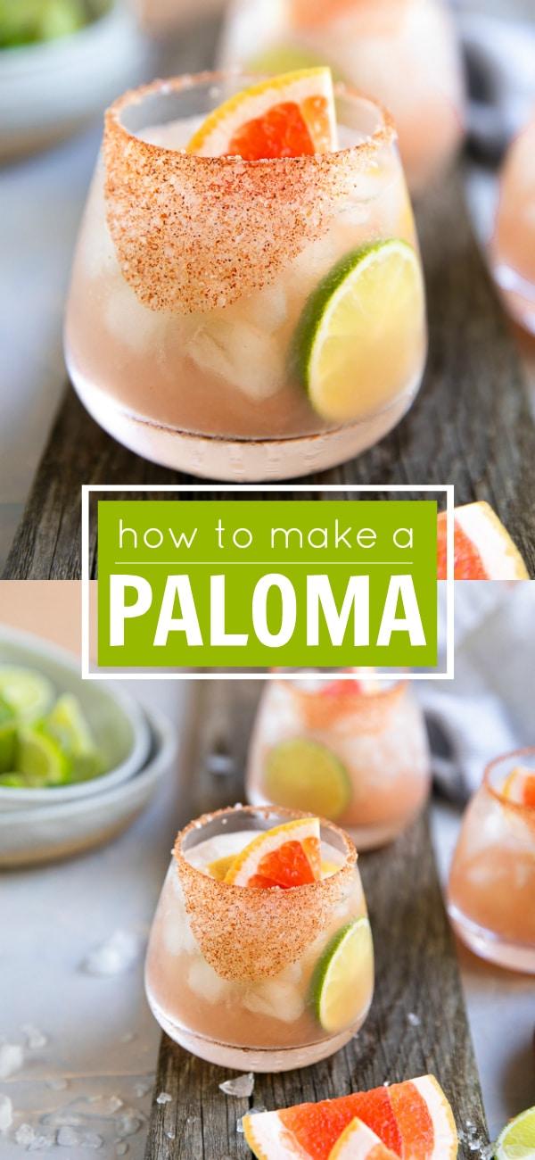 Easy Paloma Recipe - How to Make A Paloma #paloma #palomarecipe #tequila #agave #mezcal #tequilacocktail #cocktailrecipe | For this recipe and more check out, https://theforkedspoon.com/paloma-recipe