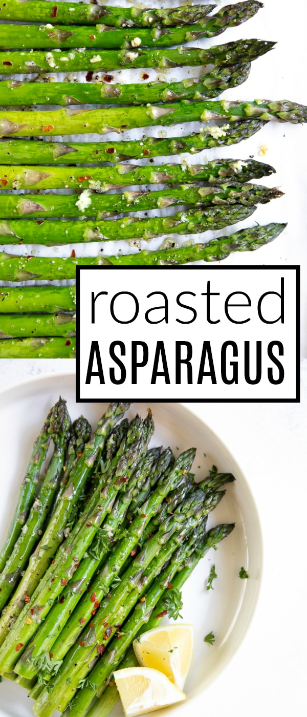 Easy Oven Roasted Asparagus #asparagus #roastedasparagus #howtoroastasparagus #lowcarb #lowcalorie #glutenfree #vegan | For this recipe and more visit, https://theforkedspoon.com/roasted-asparagus-recipe