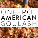 American Goulash Recipe Pinterest Pin with Text Overlay (1)