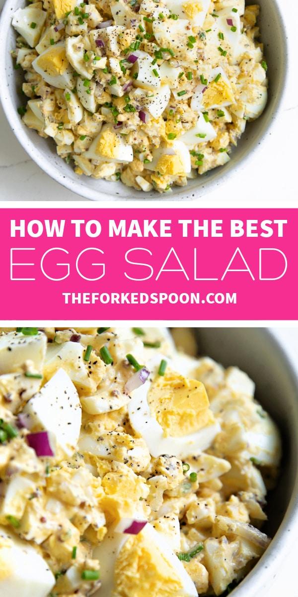 egg salad recipe Pinterest Pin Image Collage