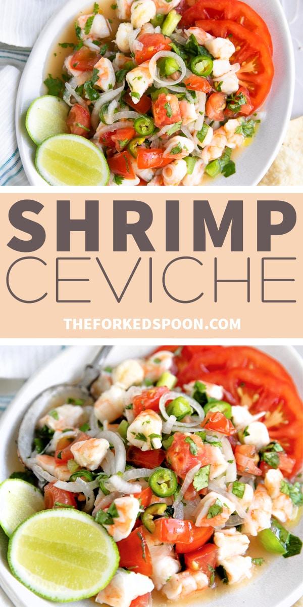 Shrimp Ceviche Recipe Pinterest Pin Image Collage