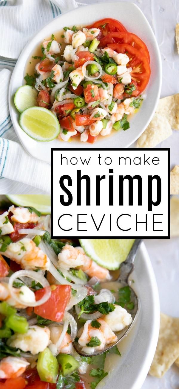 Shrimp Ceviche Recipe (How to Make Shrimp Ceviche) #shrimpceviche #ceviche #cevicherecipe #shrimprecipe #easyrecipe #lowcarb #glutenfree | For this recipe and more visit, https://theforkedspoon.com/shrimp-ceviche-recipe/