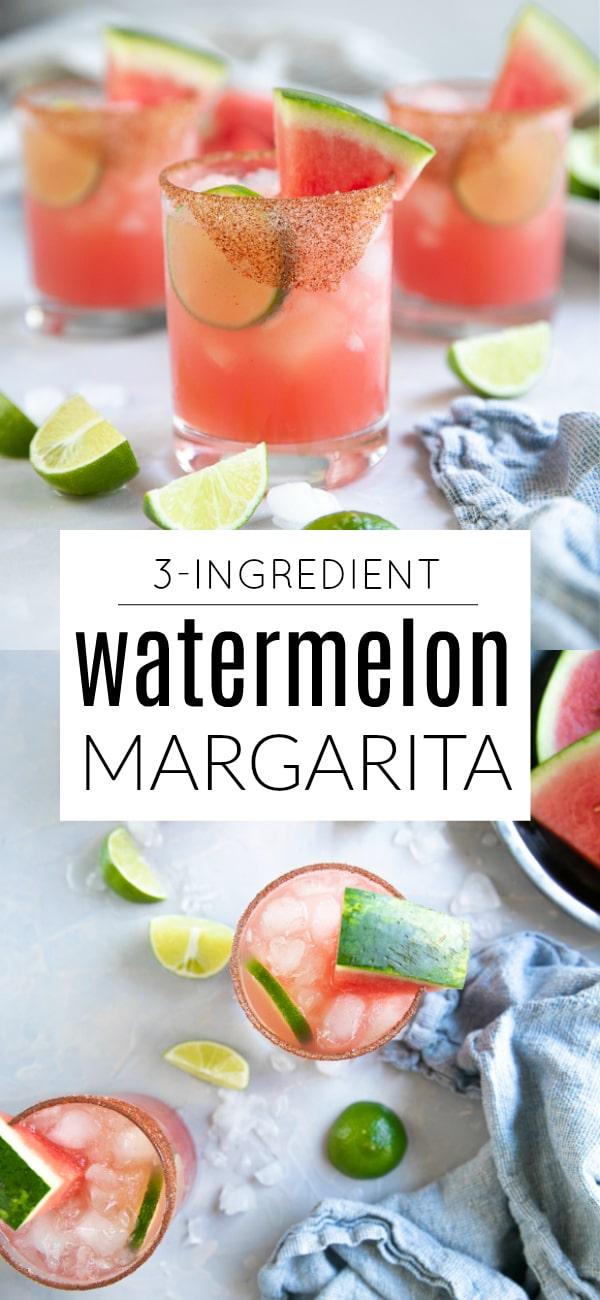 Watermelon Margarita Recipe (3-Ingredients) #margaritarecipe #margarita #watermelonrecipe #watermelonmargarita #summerrecipe #tequila #marg #nosugaradded