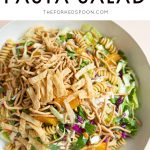 Asian Noodle Salad with Chicken Pinterest Pin