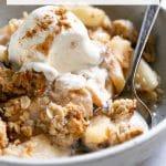 Easy Apple Crisp Recipe (How to Make Apple Crisp) Pinterest Pin Collage Image