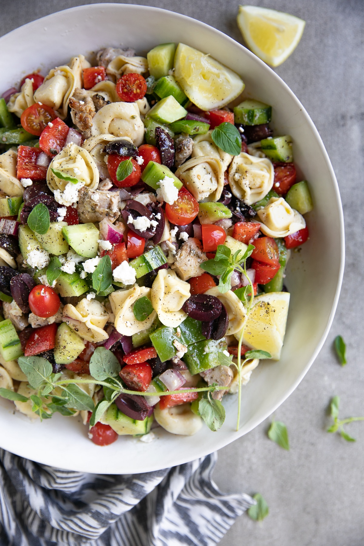 Greek Tortellini Salad Recipe With Chicken The Forked Spoon