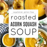 Roasted Acorn Squash Soup Recipe Pinterest Pin Image