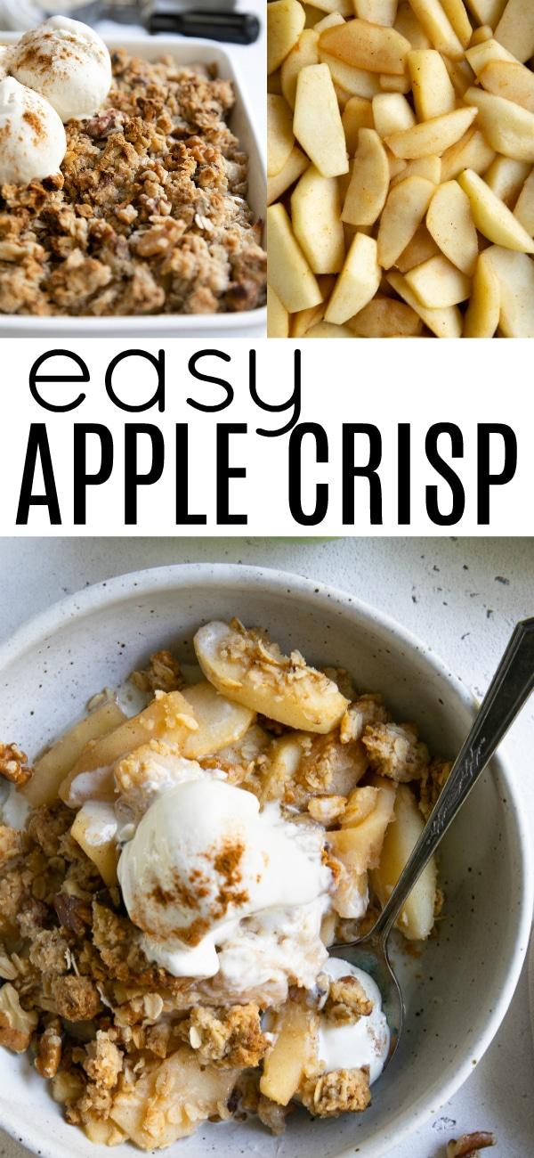 Easy Apple Crisp Recipe (How to Make Apple Crisp) #applecrisp #easyapplecrisp #appledessert #applerecipes #GrannySmithApples #applecrisprecipe