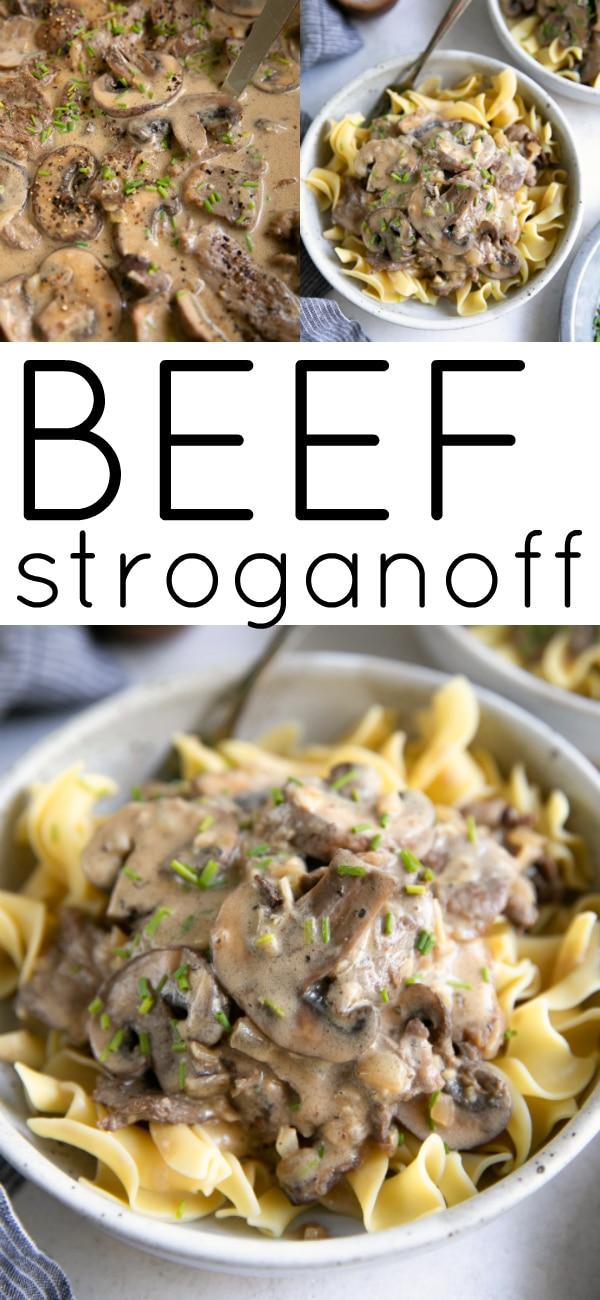 Beef Stroganoff Recipe #beefstroganoff #30minutemeal #beef #stroganoff #easydinneridea #steak