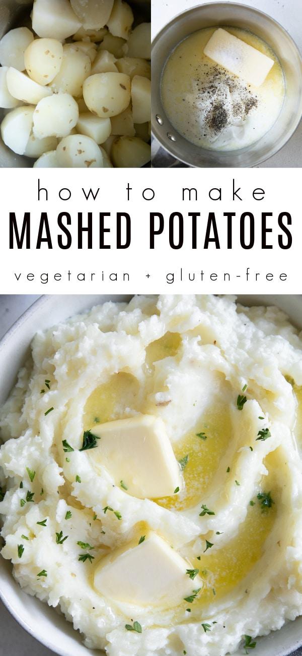 creamy mashed potatoes recipe Pinterest Pin Collage