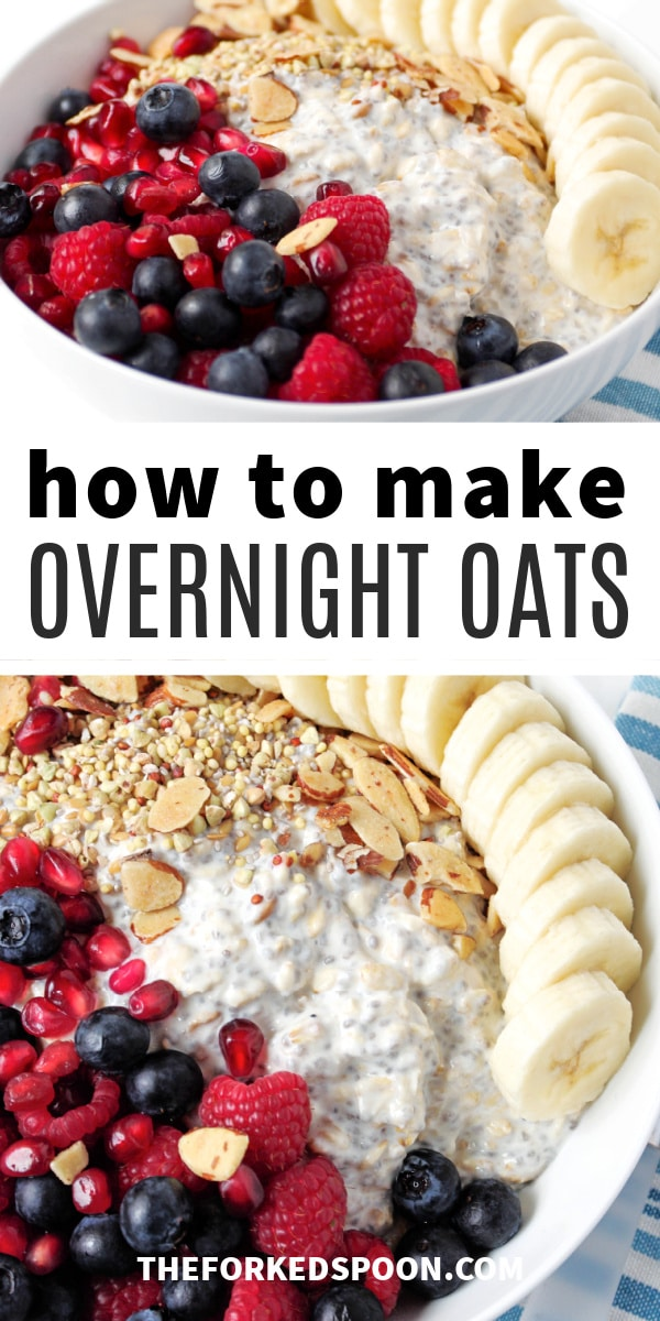 overnight oats recipe pinterest pin collaged image