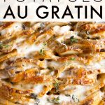 Potatoes Au Gratin Recipe Pinterest Pin Image Collage