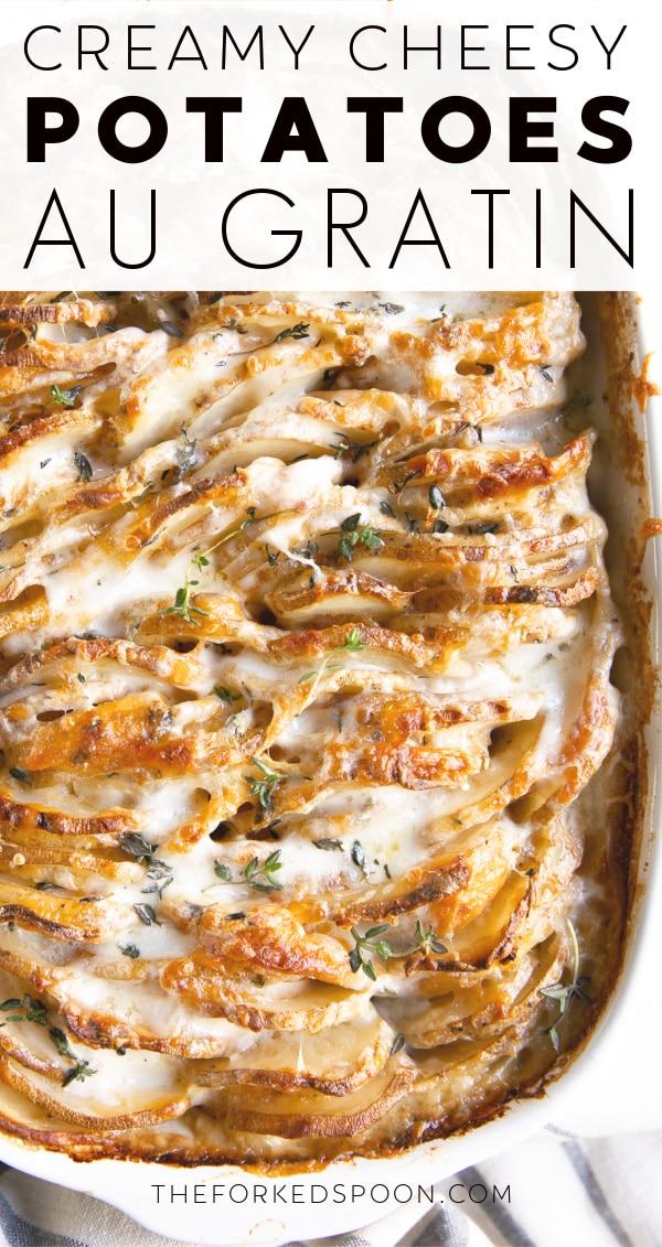 Potatoes Au Gratin Recipe Pinterest Pin Image Collage