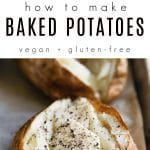 how to bake potatoes Pinterest Collage