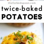 twice baked potato recipe pinterest pin