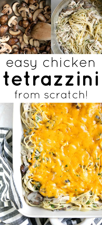 Easy Chicken Tetrazzini Recipe #chickentetrazzini #chickenrecipe #tetrazzini #pastacasserole #turkeytetrazzini #spaghetti #easyrecipe