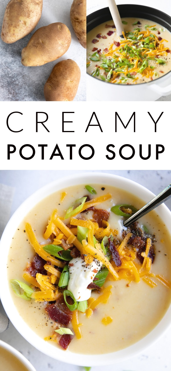 potato soup recipe Pinterest Pin Collage