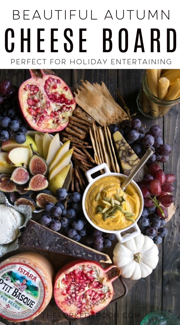 autumn cheese board Pinterest PIN Collage