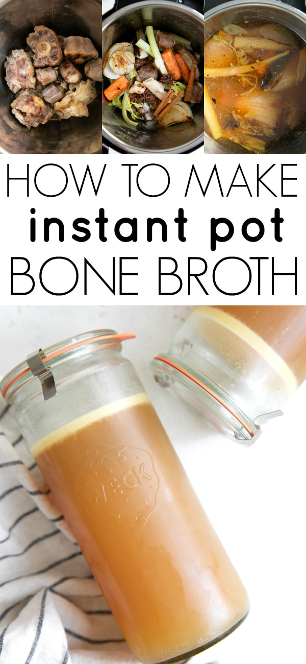 pinterest collaged image for instant pot bone broth