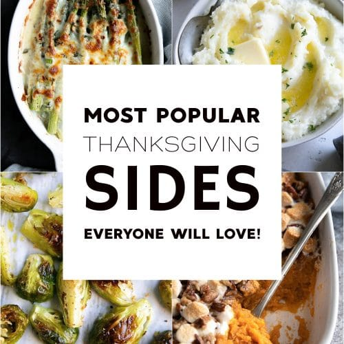 must have thanksgiving side dishes pinterest pin collage