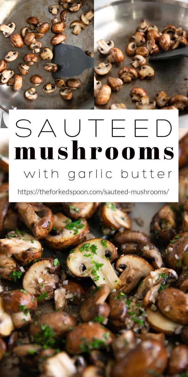 sauteed mushrooms Pinterest PIN Collage