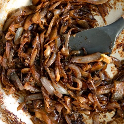 How to caramelize onions.