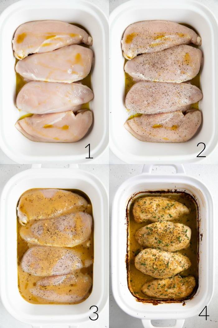 Baked Honey Mustard Chicken Breasts step-by-step photo collage