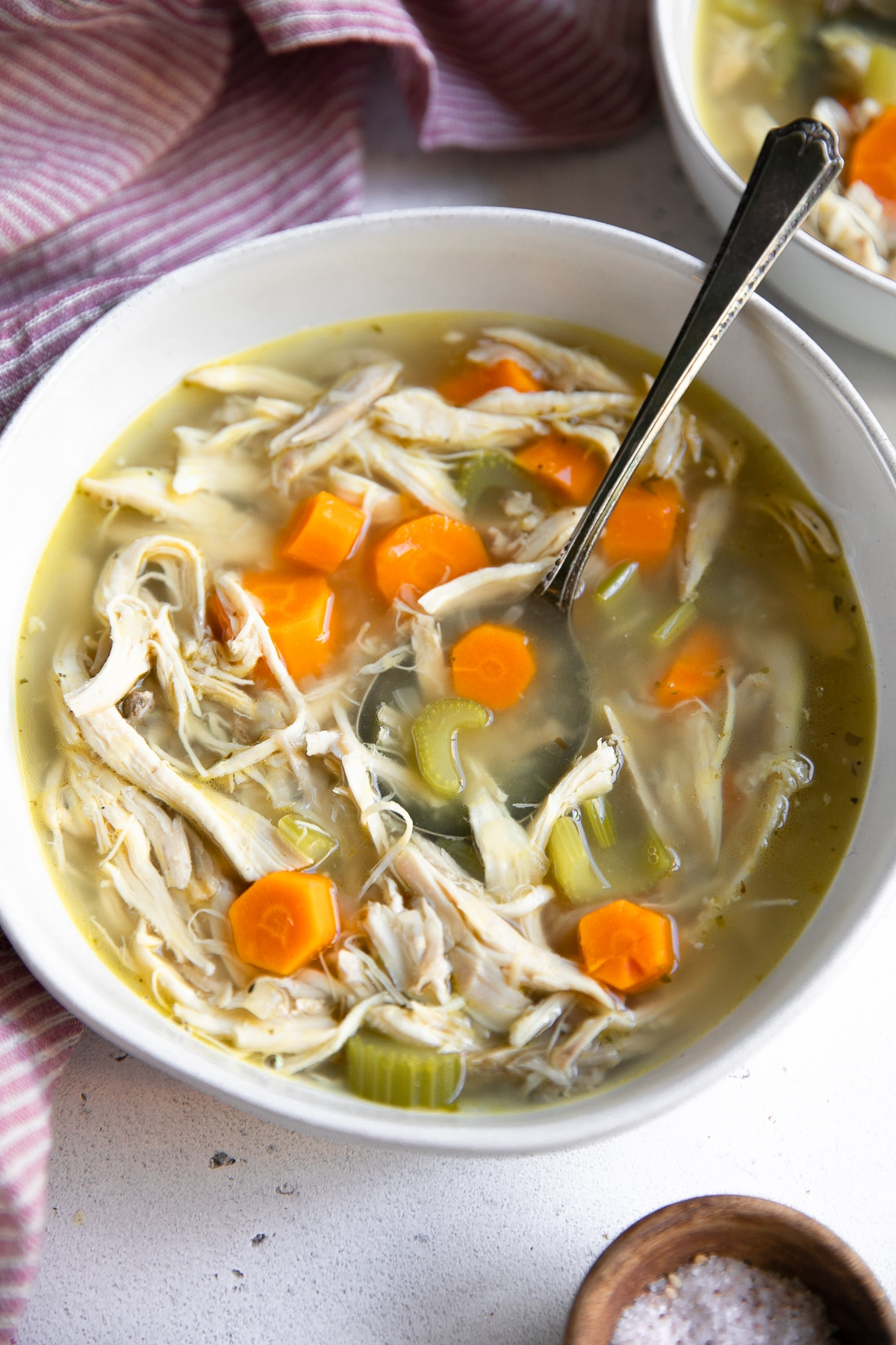 Bowl of chicken soup.