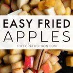 Fried Apples Recipe Pinterest Pin Image