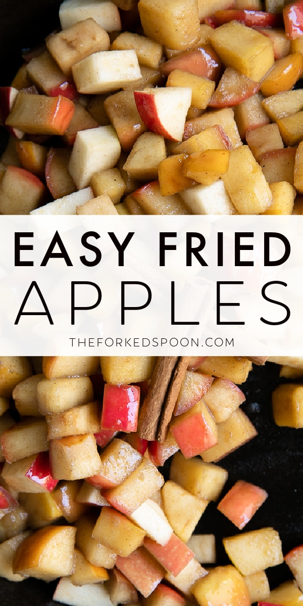 Fried Apples Recipe Pinterest Pin Image