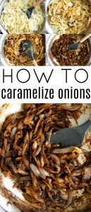 Pinterest Pin for How to Caramelize Onions