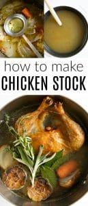 Pimterest pin for chicken stock