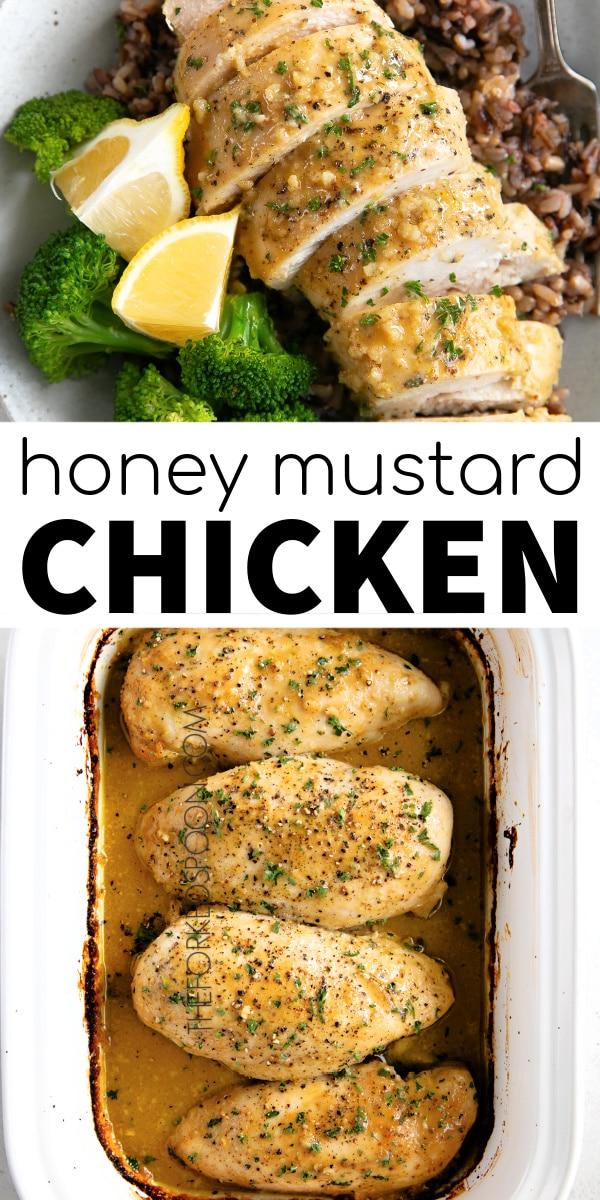 honey mustard chicken pinterest pin image collage