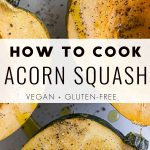 how to cook acorn squash Pinterest Pin Image