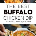 Buffalo Chicken Dip Pinterest Image Pin