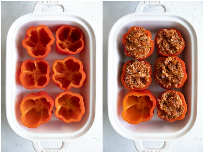 How to stuff bell peppers