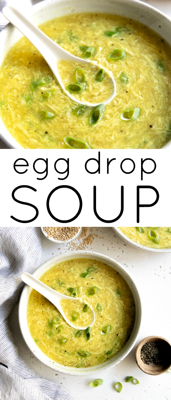 Pinterest pin collage for egg drop soup