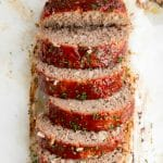 Pinterest pin for meatloaf