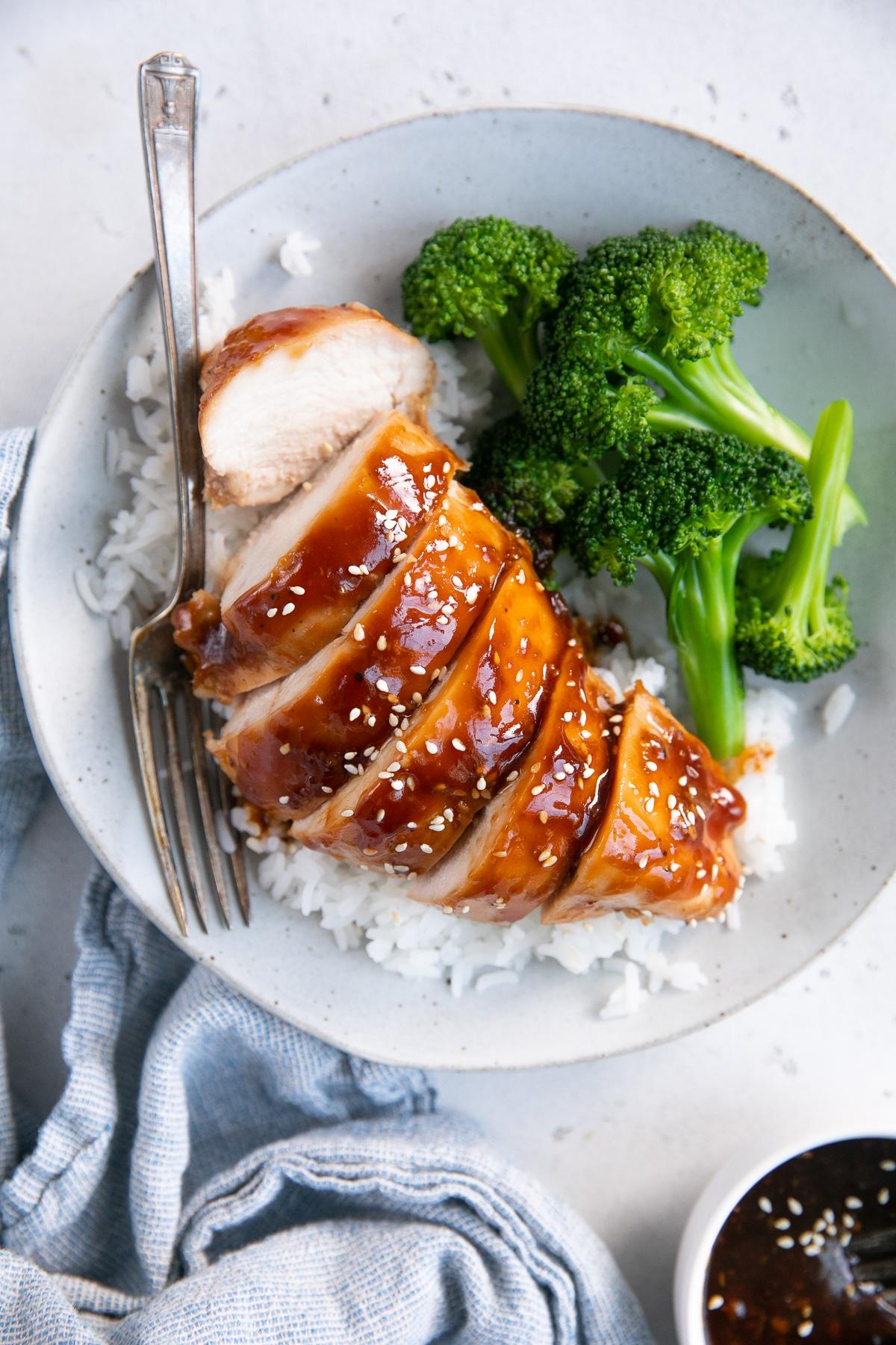 Easy Teriyaki Chicken Recipe How To Make Teriyaki Chicken The Forked Spoon
