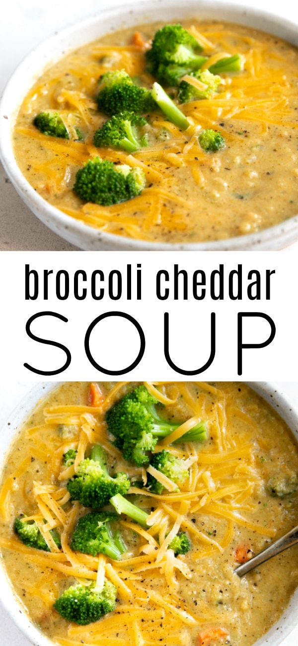 broccoli cheddar soup pinterest pin