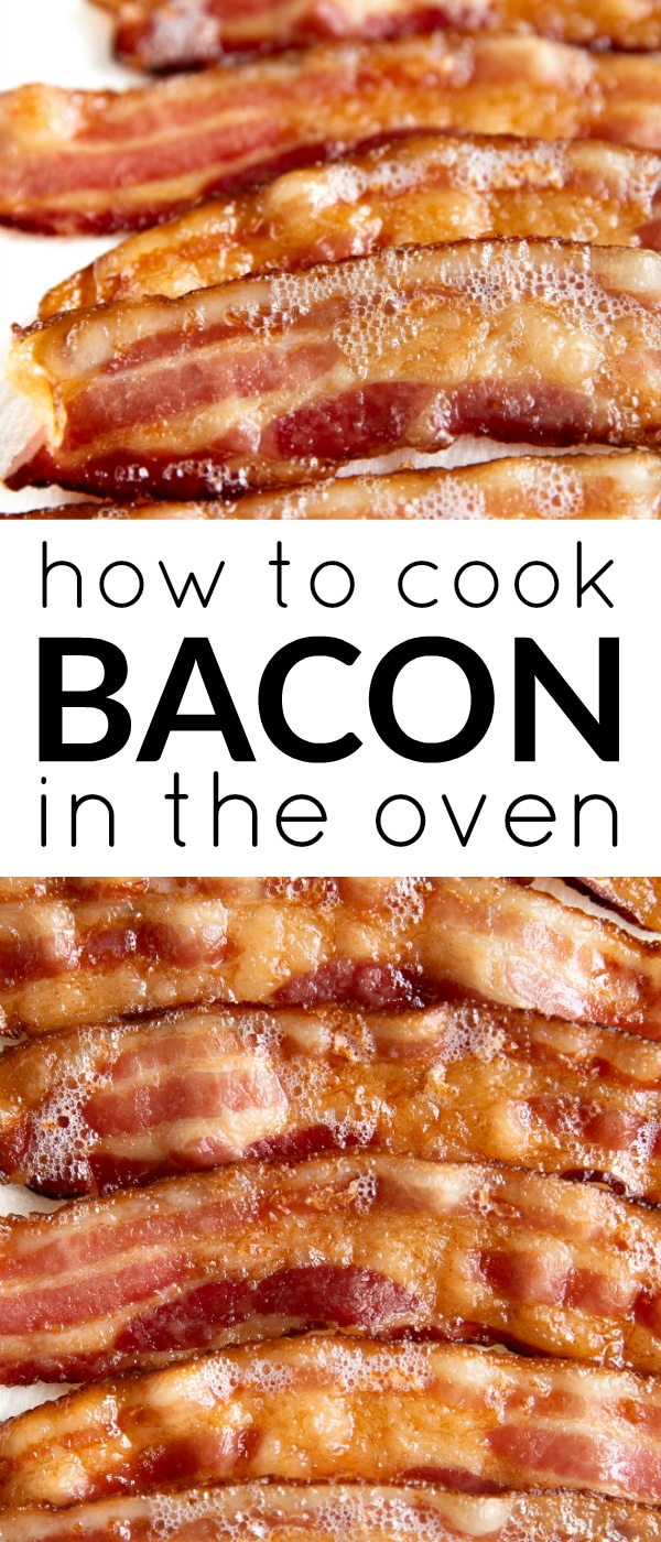 how to cook bacon in the oven pin