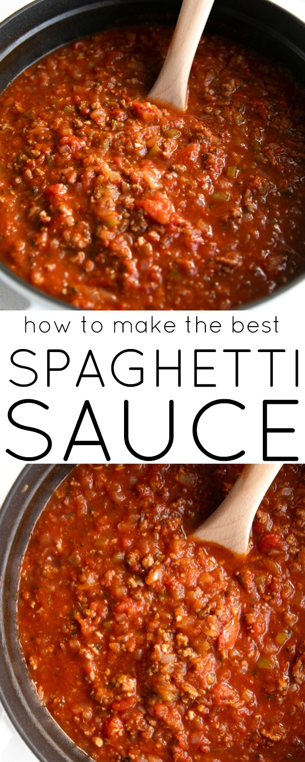 how to make the best spaghetti sauce pinterest pin