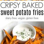 pinterest collage for baked sweet potato fries