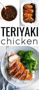 pinterest collage for chicken teriyaki